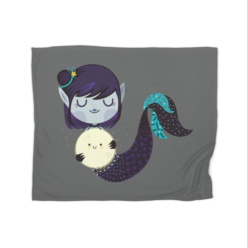 Moonlight mermaid Home Blanket by Maria Jose Da Luz