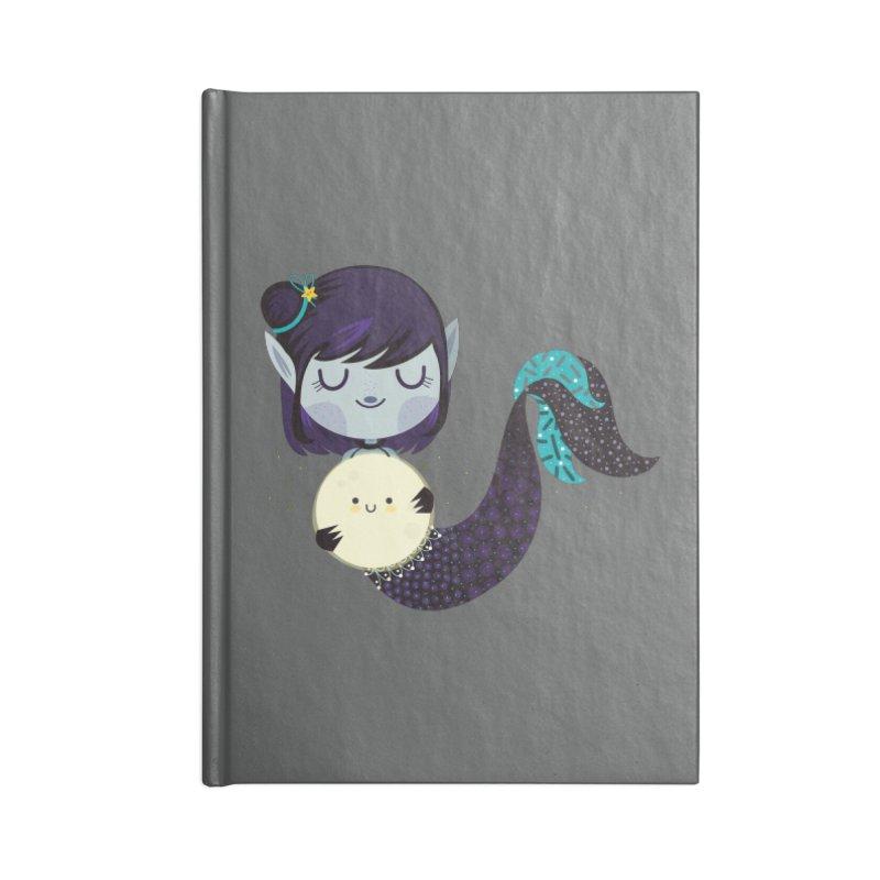 Moonlight mermaid Accessories Notebook by Maria Jose Da Luz