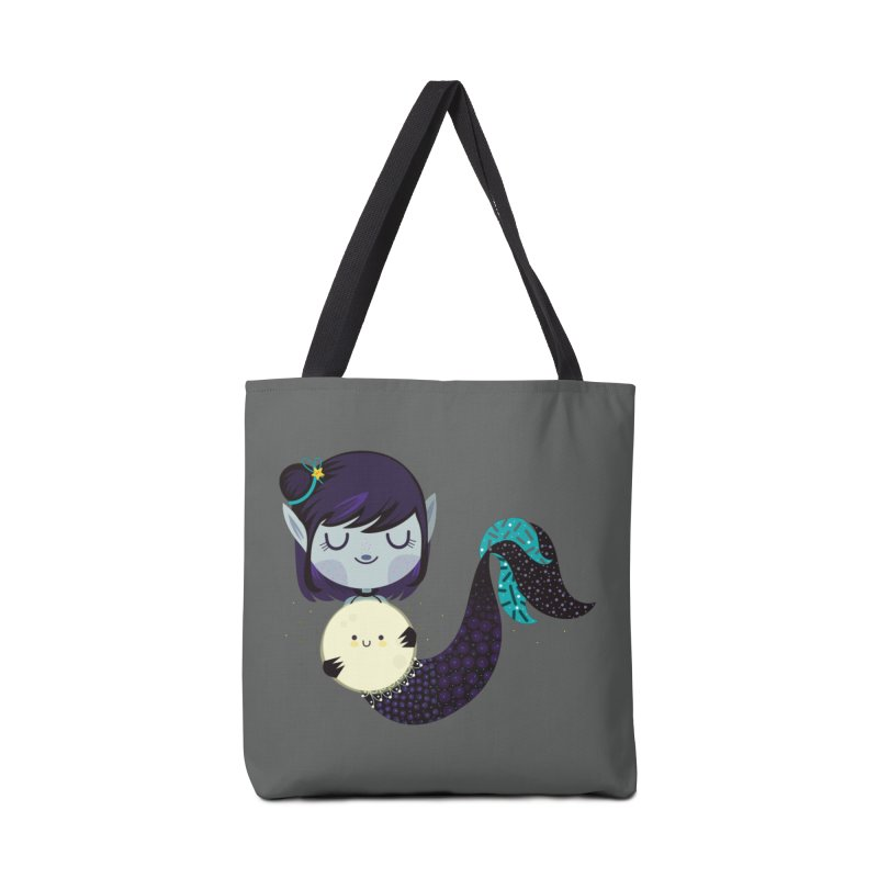 Moonlight mermaid Accessories Bag by Maria Jose Da Luz