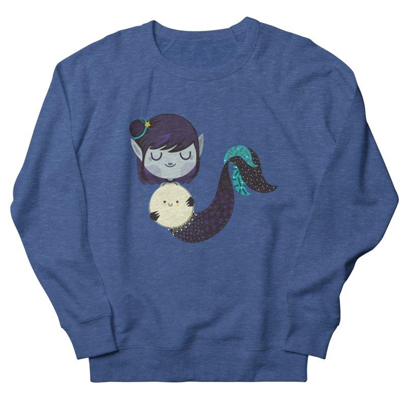 Moonlight mermaid Men's Sweatshirt by Maria Jose Da Luz