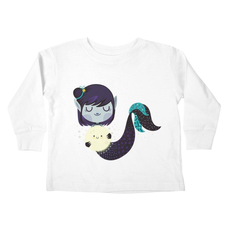 Moonlight mermaid Kids Toddler Longsleeve T-Shirt by Maria Jose Da Luz
