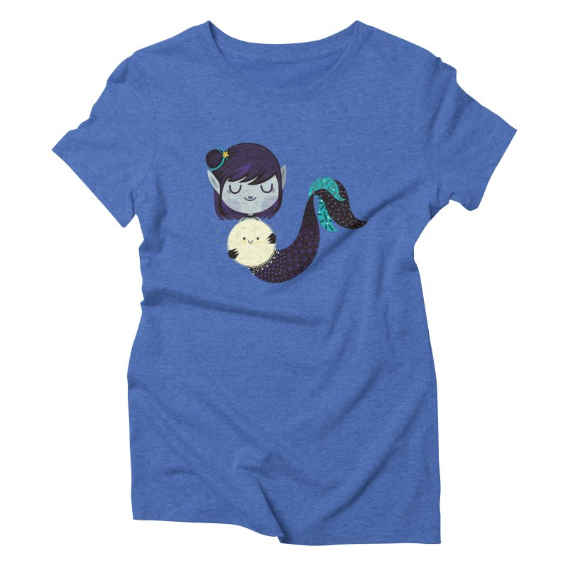 Moonlight mermaid Women's Triblend T-Shirt by Maria Jose Da Luz