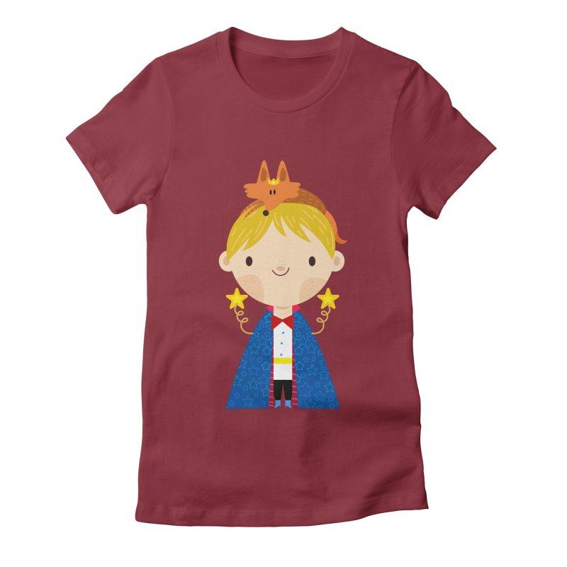 Le petit prince Women's Fitted T-Shirt by Maria Jose Da Luz
