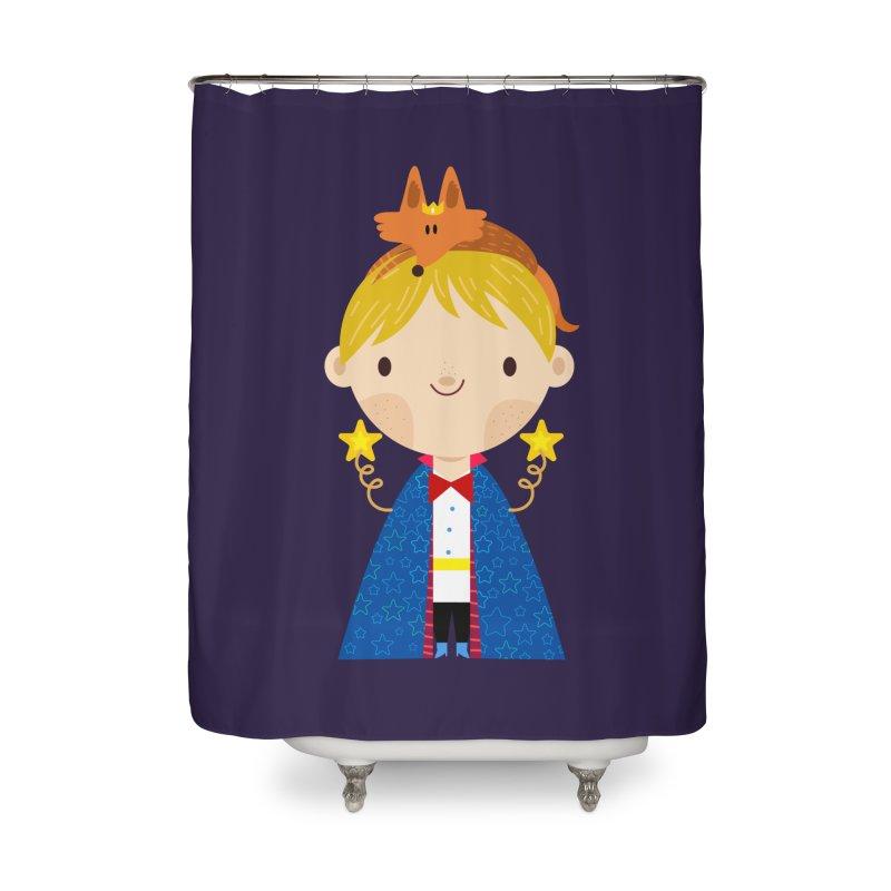 Le petit prince Home Shower Curtain by Maria Jose Da Luz