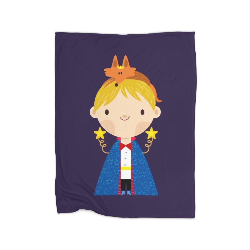 Le petit prince Home Blanket by Maria Jose Da Luz