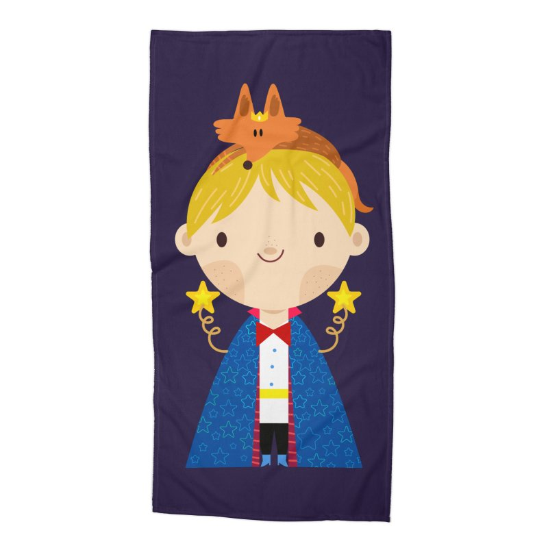 Le petit prince Accessories Beach Towel by Maria Jose Da Luz