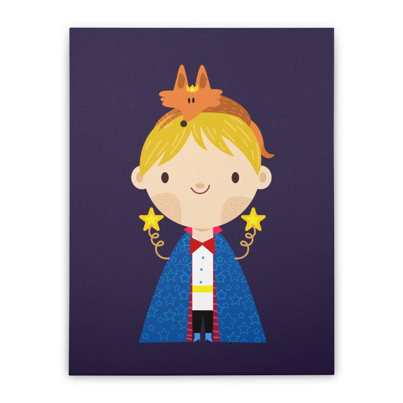Le petit prince Home Stretched Canvas by Maria Jose Da Luz