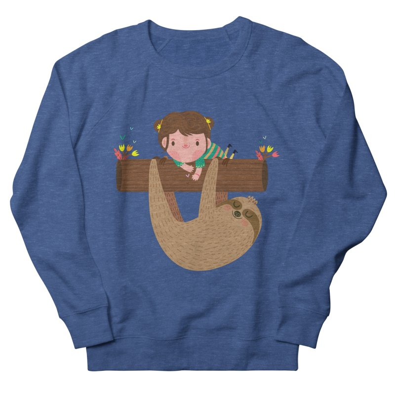 Girl and sloth Men's Sweatshirt by Maria Jose Da Luz