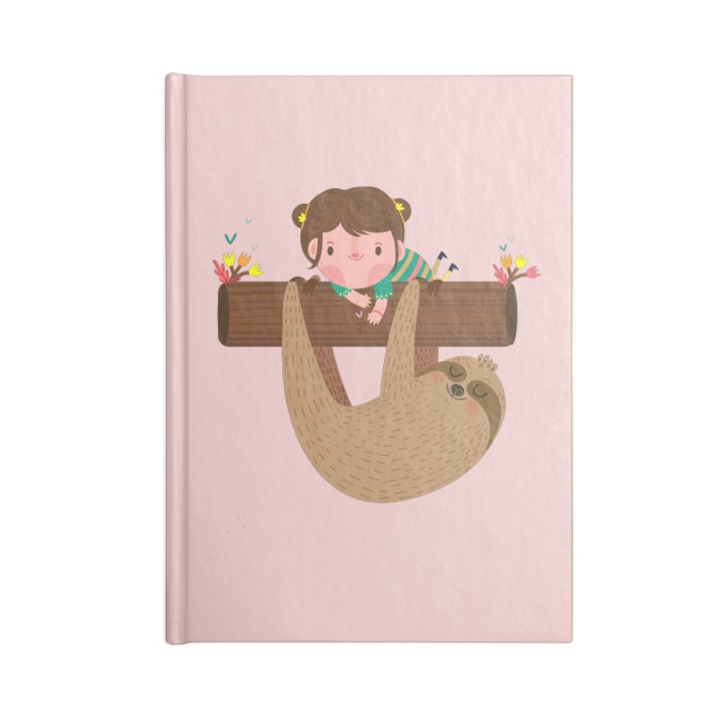 Girl and sloth Accessories Notebook by Maria Jose Da Luz