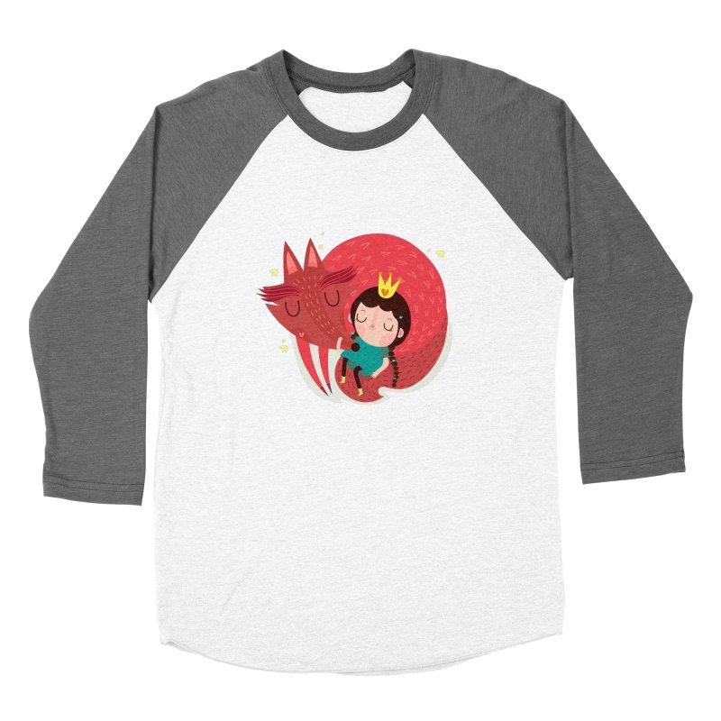 Girl and fox Women's Longsleeve T-Shirt by Maria Jose Da Luz