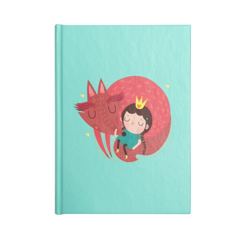 Girl and fox Accessories Notebook by Maria Jose Da Luz