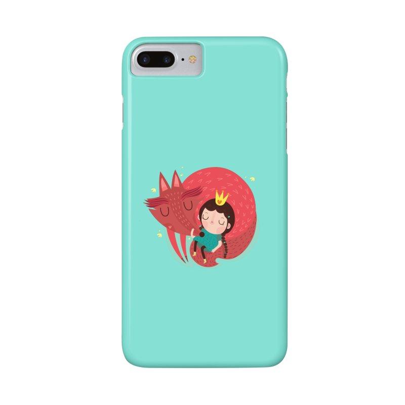 Girl and fox Accessories Phone Case by Maria Jose Da Luz