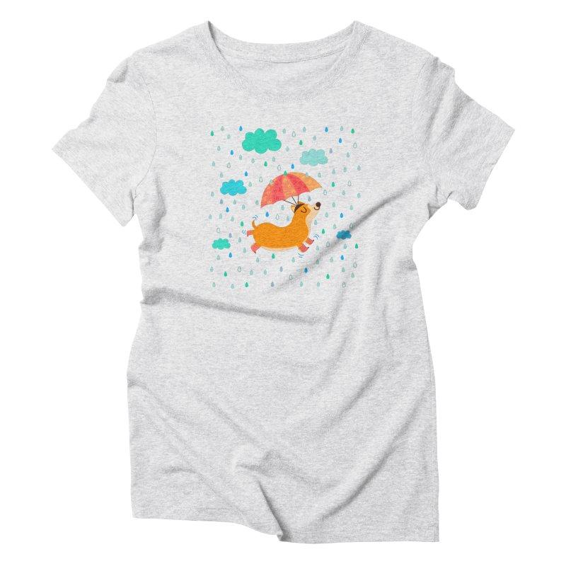 Dancing in the rain Women's T-Shirt by Maria Jose Da Luz