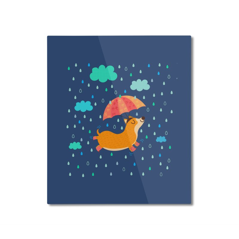 Dancing in the rain Home Mounted Aluminum Print by Maria Jose Da Luz