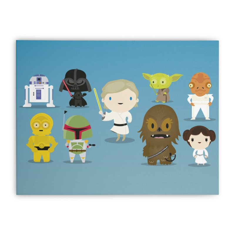 Mini starwars  Home Stretched Canvas by Maria Jose Da Luz