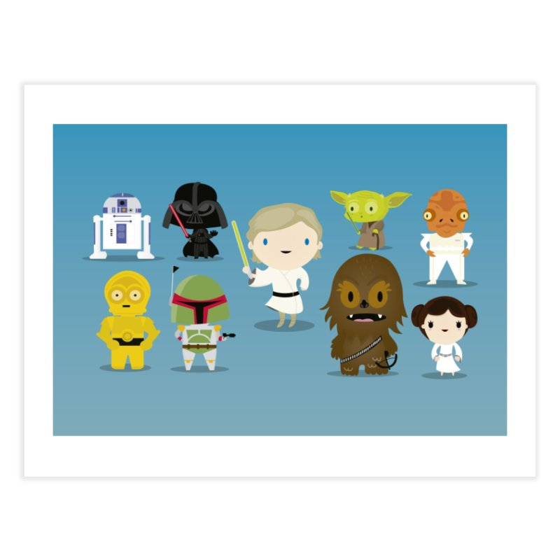 Mini starwars  Home Fine Art Print by Maria Jose Da Luz