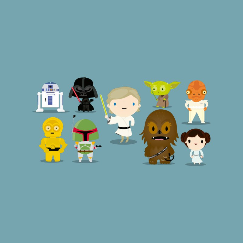 Mini starwars  Kids T-shirt by Maria Jose Da Luz