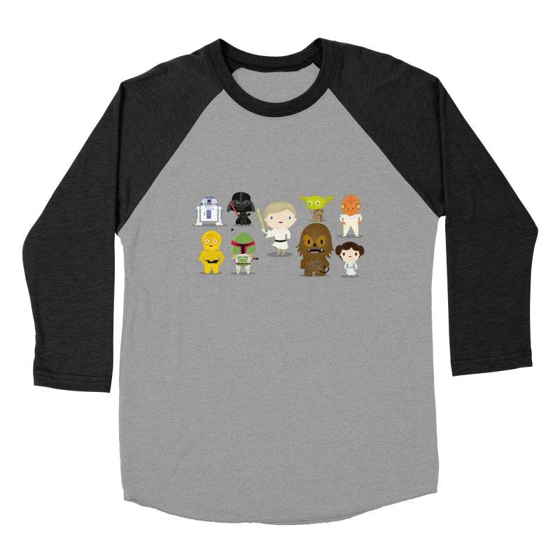 Mini starwars  Women's Baseball Triblend T-Shirt by Maria Jose Da Luz