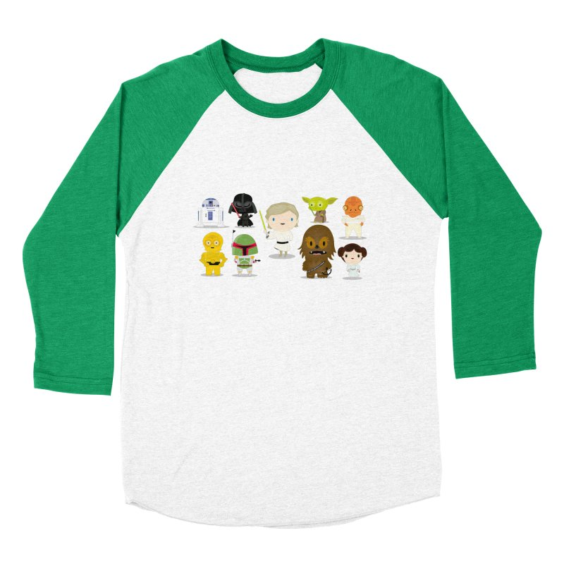 Mini starwars  Men's Baseball Triblend T-Shirt by Maria Jose Da Luz