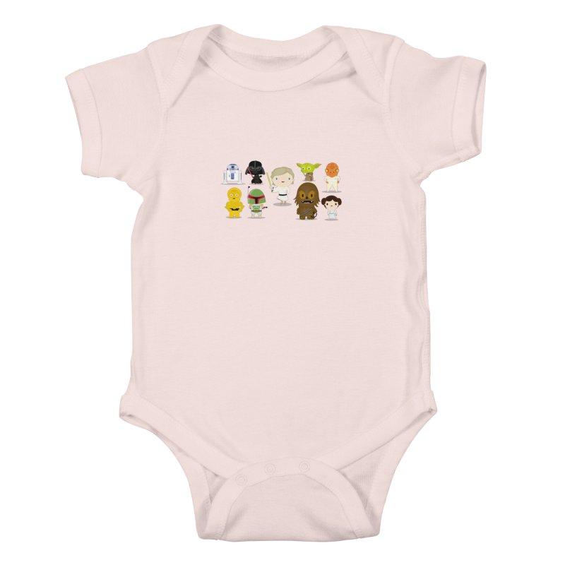 Mini starwars  Kids Baby Bodysuit by Maria Jose Da Luz