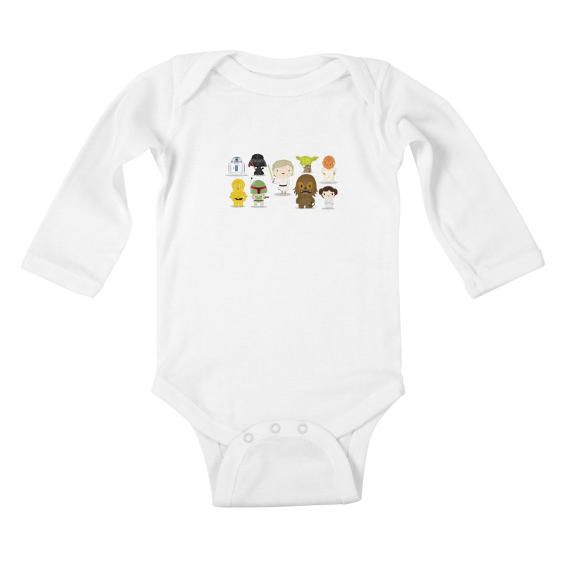 Mini starwars  Kids Baby Longsleeve Bodysuit by Maria Jose Da Luz