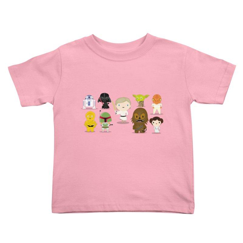 Mini starwars  Kids Toddler T-Shirt by Maria Jose Da Luz