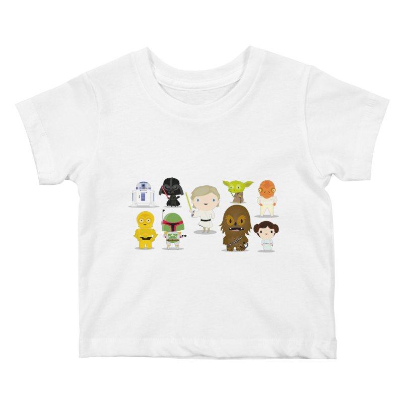 Mini starwars  Kids Baby T-Shirt by Maria Jose Da Luz