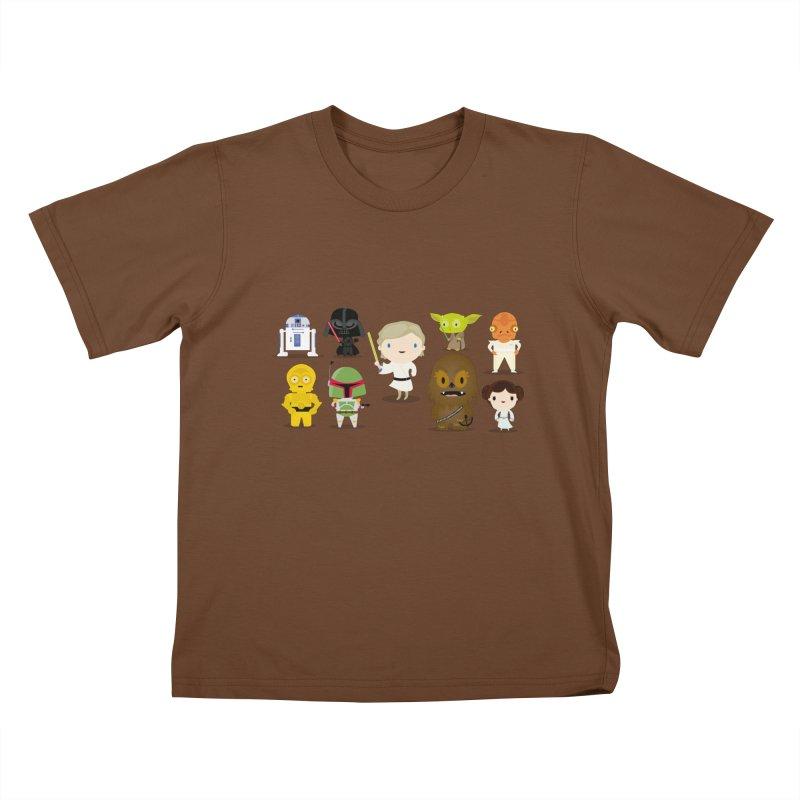Mini starwars  Kids T-Shirt by Maria Jose Da Luz