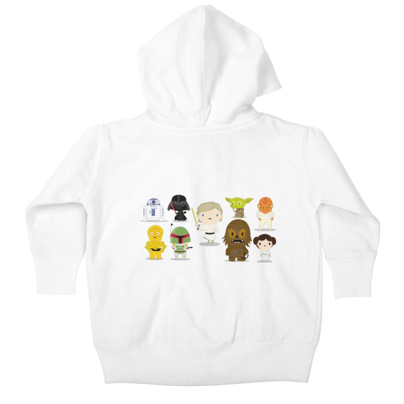 Mini starwars  Kids Baby Zip-Up Hoody by Maria Jose Da Luz