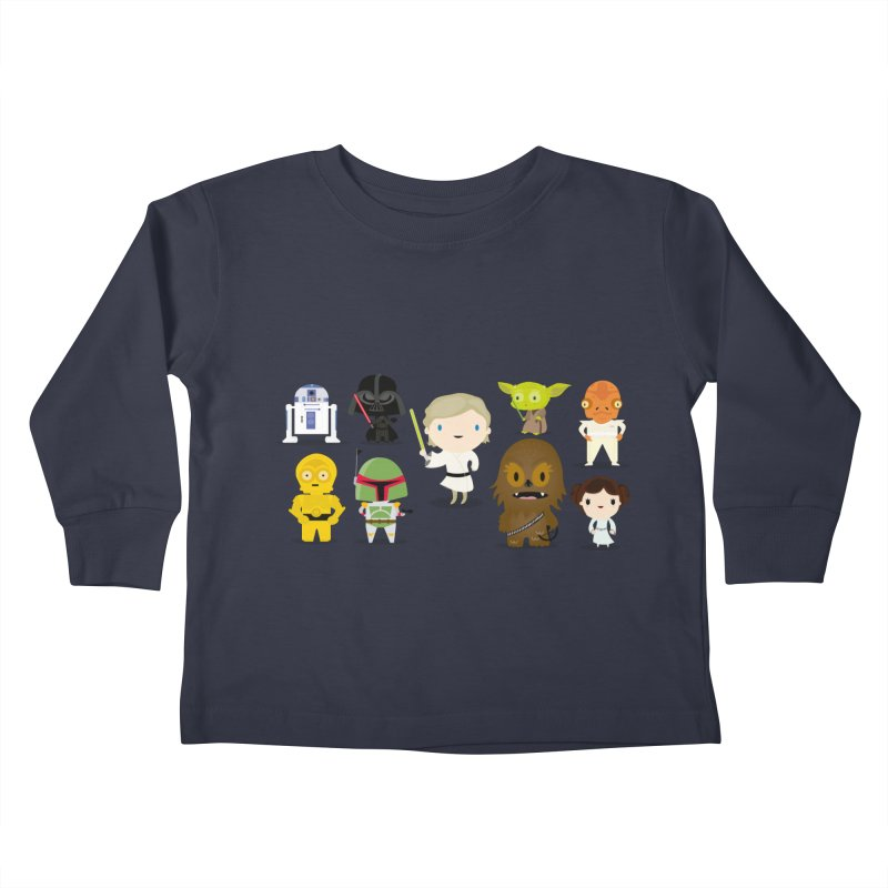Mini starwars  Kids Toddler Longsleeve T-Shirt by Maria Jose Da Luz