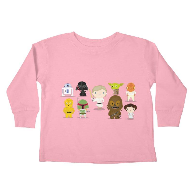 Mini starwars  Kids Toddler Longsleeve T-Shirt by Maria Jose Da Luz