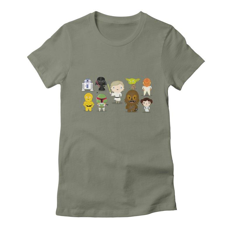 Mini starwars  Women's Fitted T-Shirt by Maria Jose Da Luz