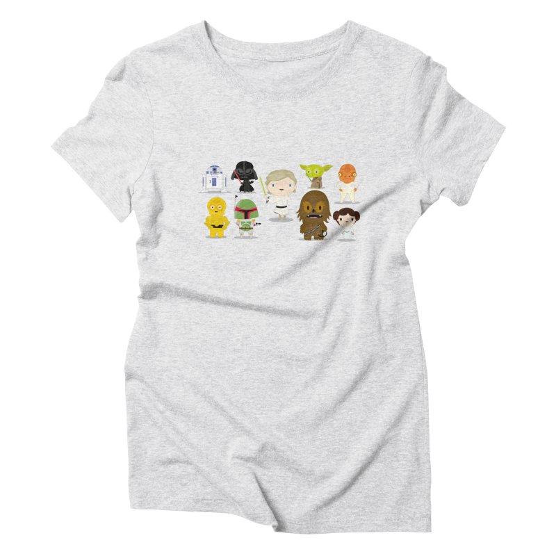 Mini starwars  Women's Triblend T-Shirt by Maria Jose Da Luz