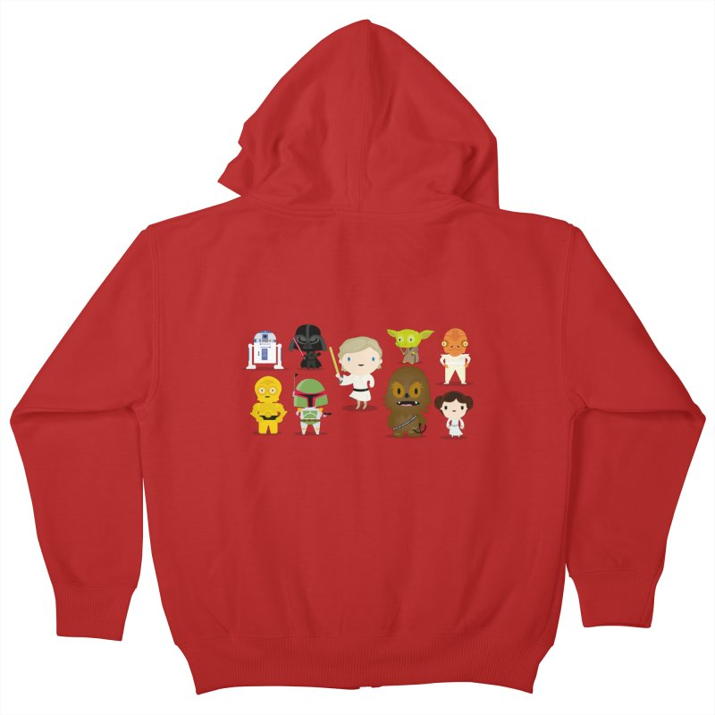 Mini starwars  Kids Zip-Up Hoody by Maria Jose Da Luz