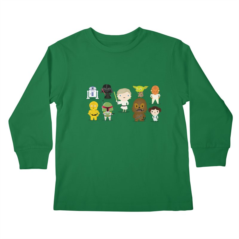 Mini starwars  Kids Longsleeve T-Shirt by Maria Jose Da Luz