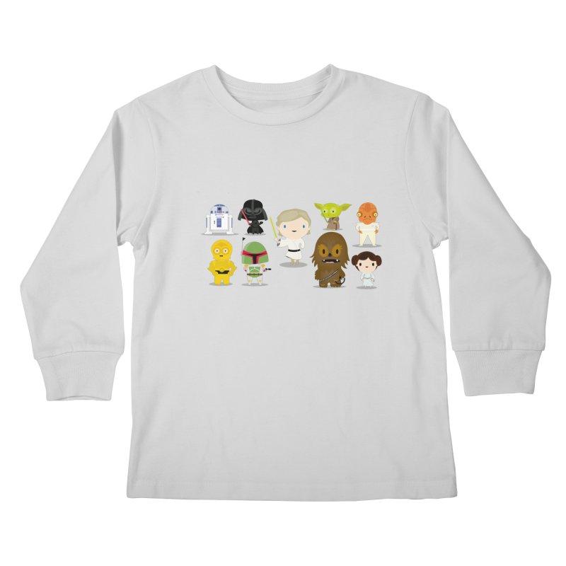 Mini starwars  Kids Longsleeve T-Shirt by Maria Jose Da Luz