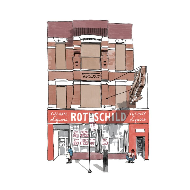 Rothschild on Chicago Home Fine Art Print by Brooks Industries