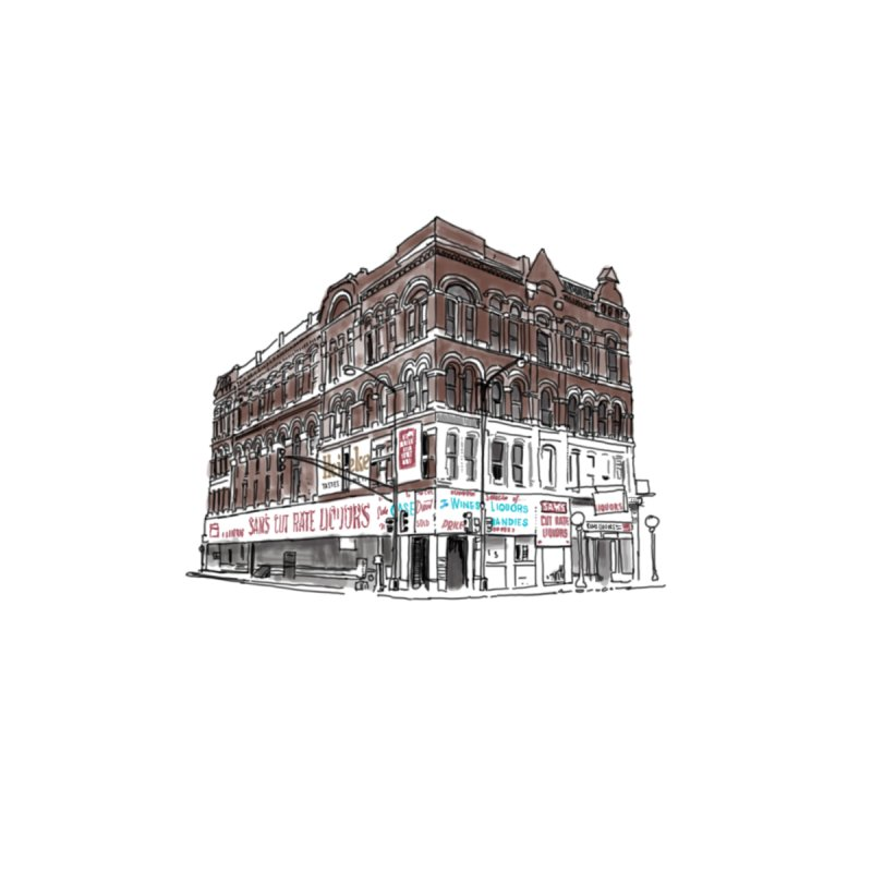 Sam's on Halsted Home Fine Art Print by Brooks Industries