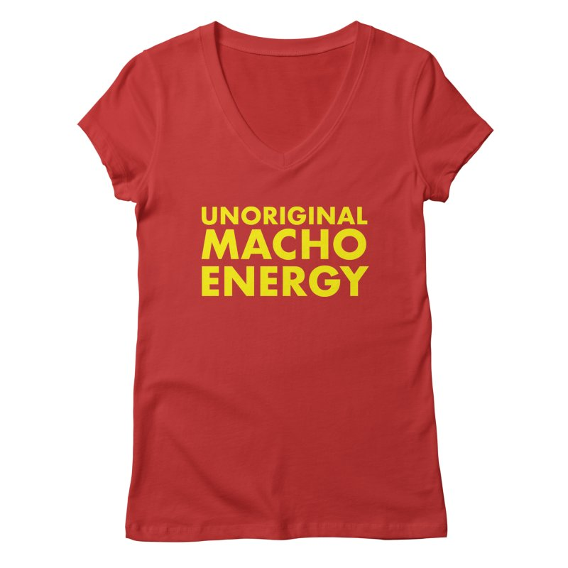 Unoriginal Macho Energy Women's Regular V-Neck by Brooks Industries