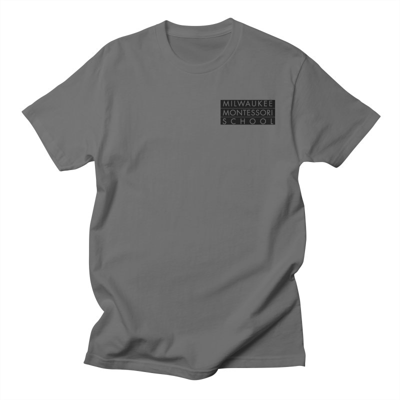 MMS Black Logo - Upper Chest Men's T-Shirt by mkemontessori's Artist Shop