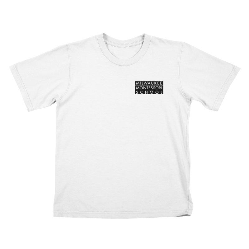 MMS Black Logo - Upper Chest Kids T-Shirt by mkemontessori's Artist Shop