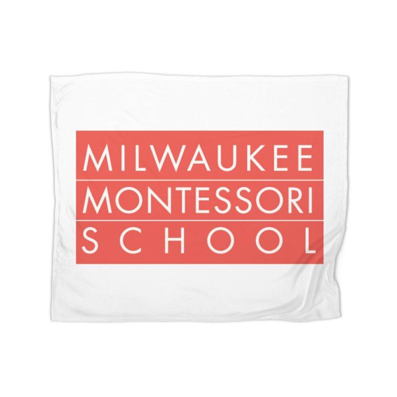 MMS Red Logo - Center Home Blanket by mkemontessori's Artist Shop