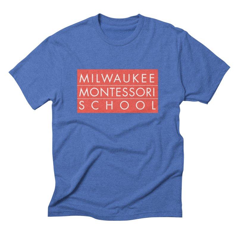 MMS Red Logo - Center Men's T-Shirt by mkemontessori's Artist Shop