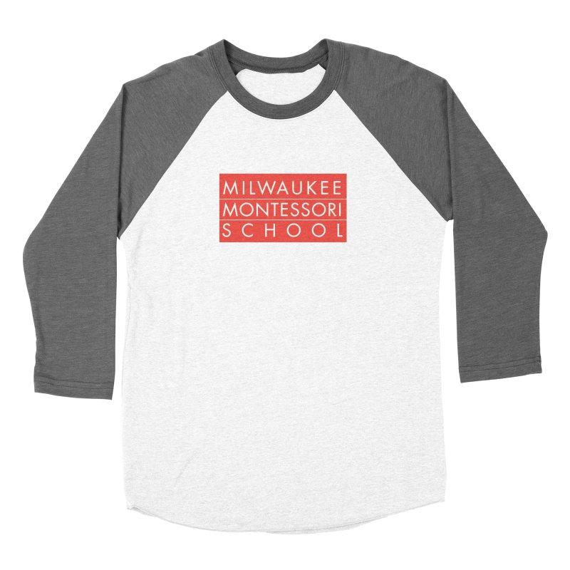 MMS Red Logo - Center Women's Longsleeve T-Shirt by mkemontessori's Artist Shop