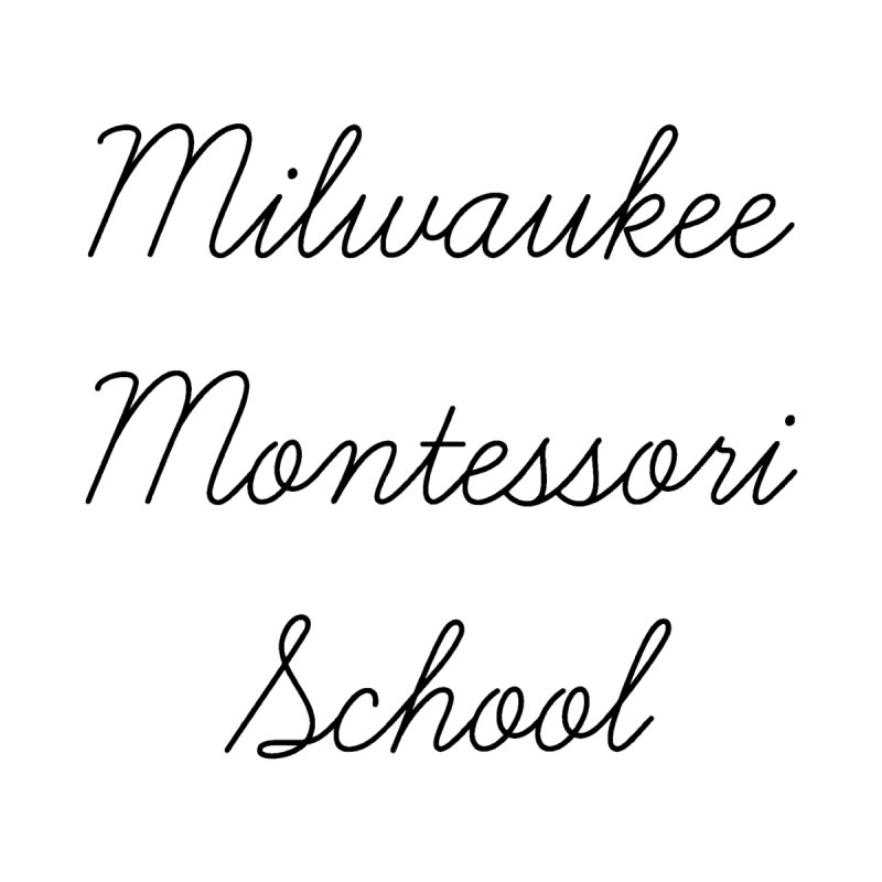 Cursive Logo - Black Home Duvet by mkemontessori's Artist Shop