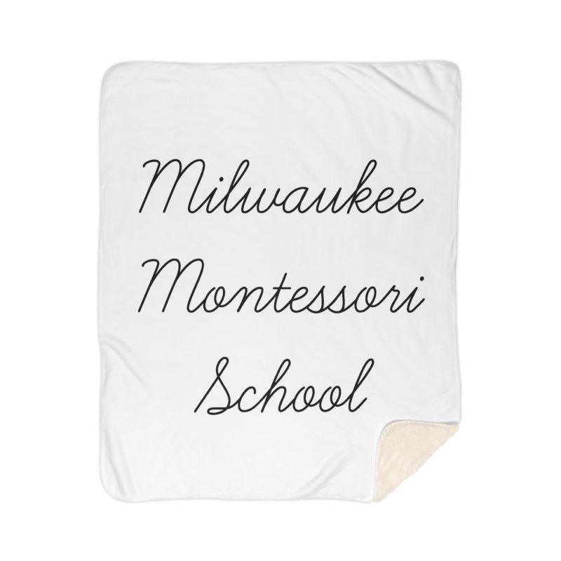 Cursive Logo - Black Home Blanket by mkemontessori's Artist Shop