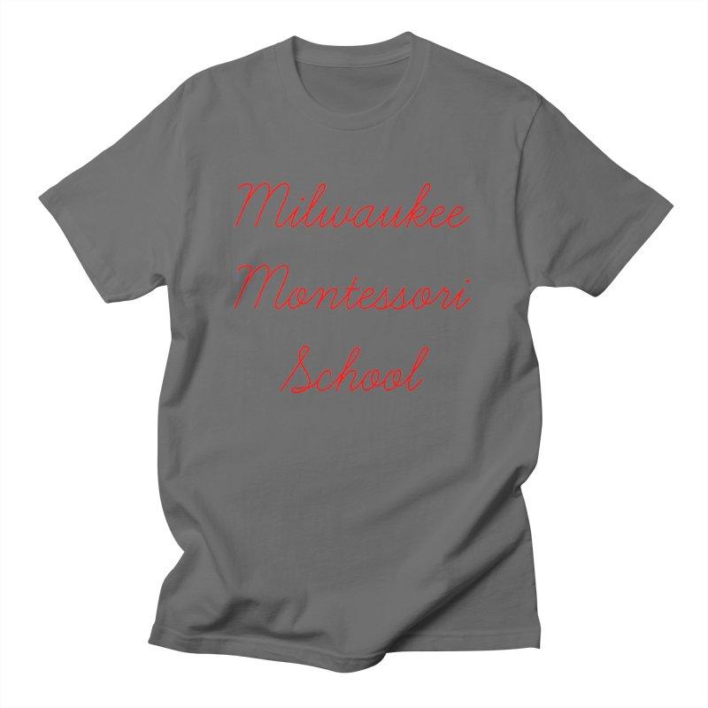MMS Cursive - Red Men's T-Shirt by mkemontessori's Artist Shop