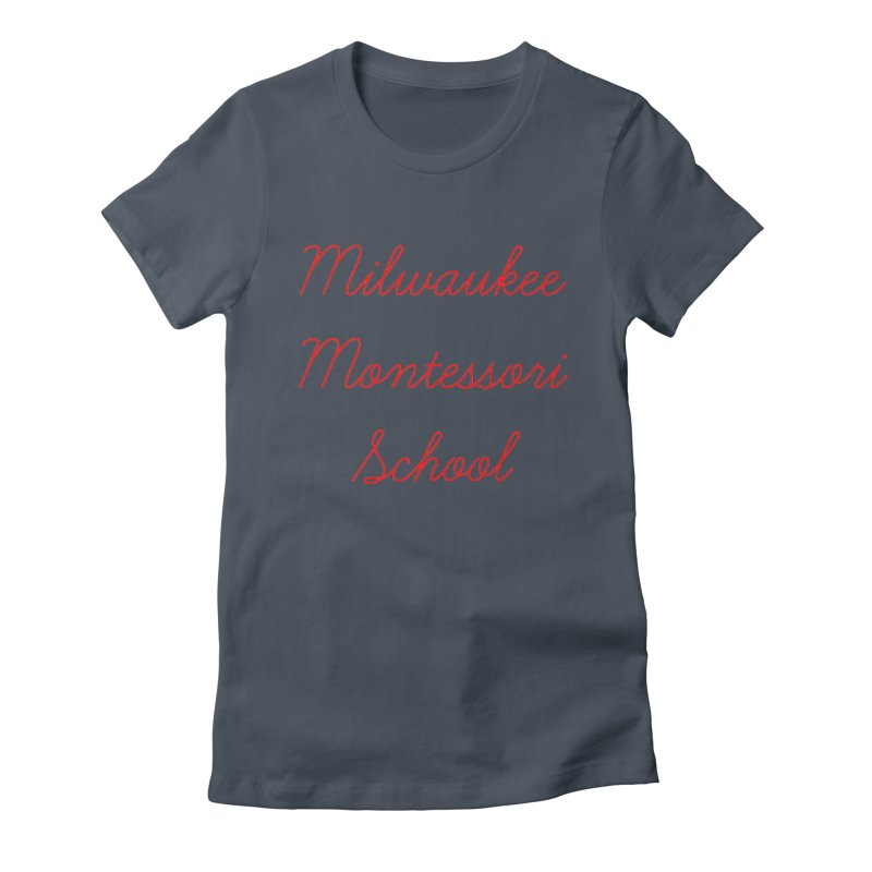 MMS Cursive - Red Women's T-Shirt by mkemontessori's Artist Shop