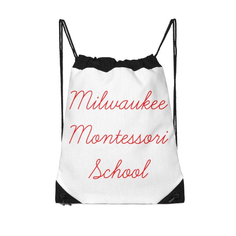 MMS Cursive - Red Accessories Bag by mkemontessori's Artist Shop