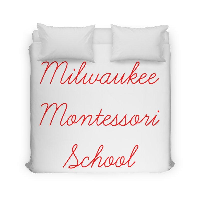 MMS Cursive - Red Home Duvet by mkemontessori's Artist Shop